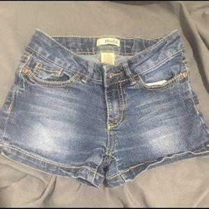 3/$25 Mudd denim shorts size 8
